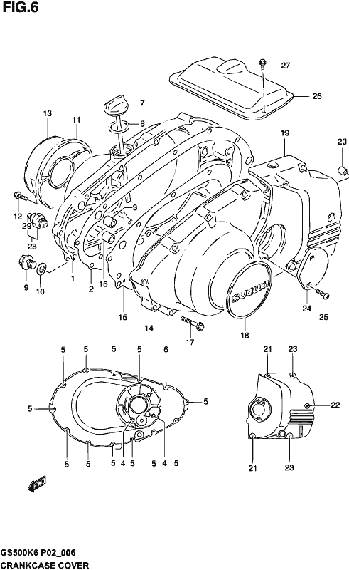 2005 cbr600rr wiring diagram 2005 gs500 wiring diagram mick hone - gs500 2005 - crankcase cover #15